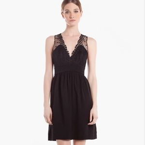 SANDRO 'Rubis' Fit & Flare Lace Dress with Stars